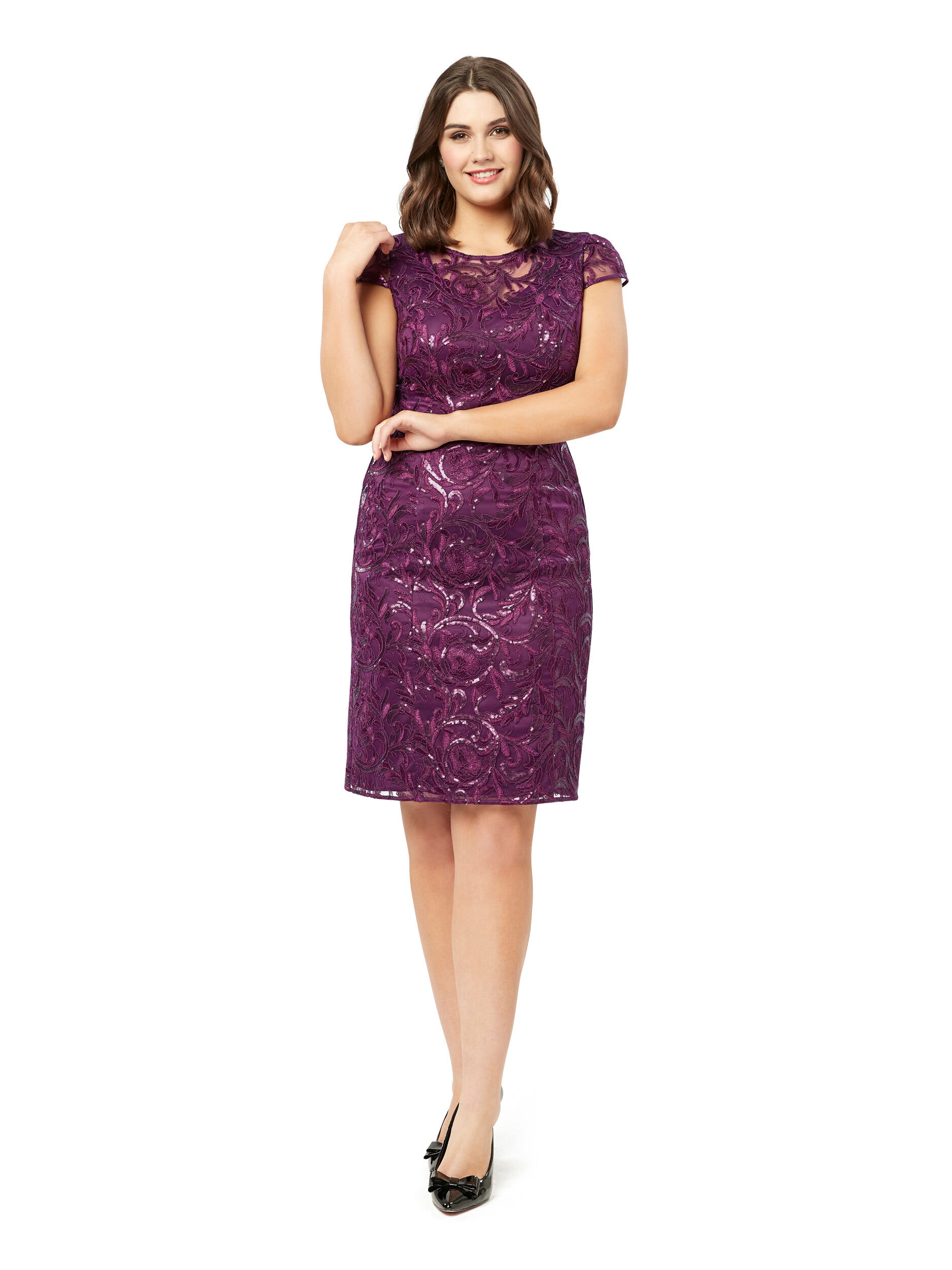 Time For Shimmer Slv Dress