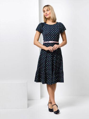 Spot Medley Ponte Dress