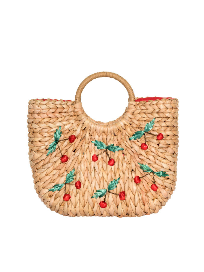 Cheeky Cherry Wicker Bag