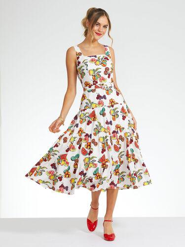 Summer Fruits Midi Dress