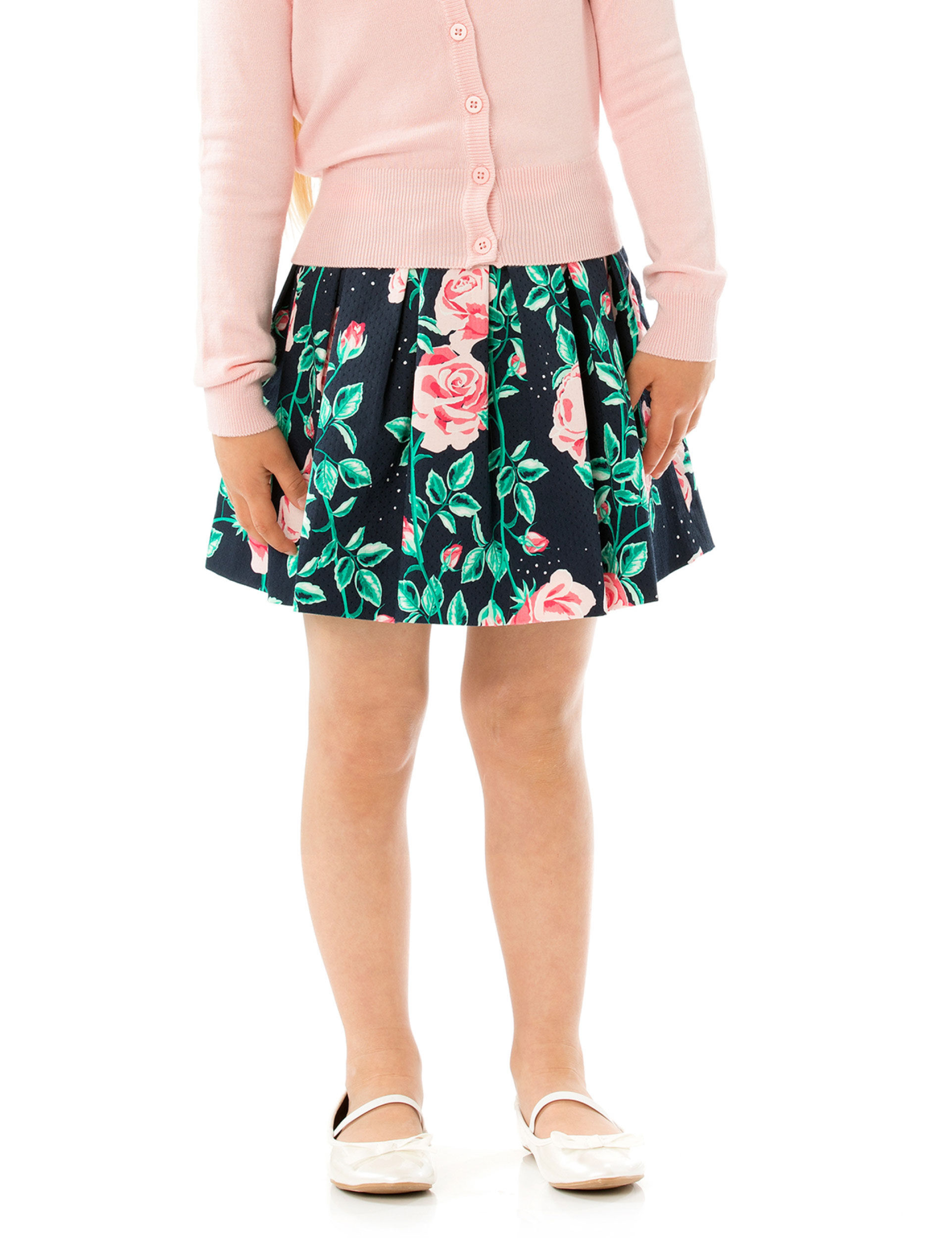3-7 Floral Girls Prom Skirt