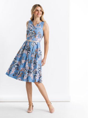 True Blue Floral Dress