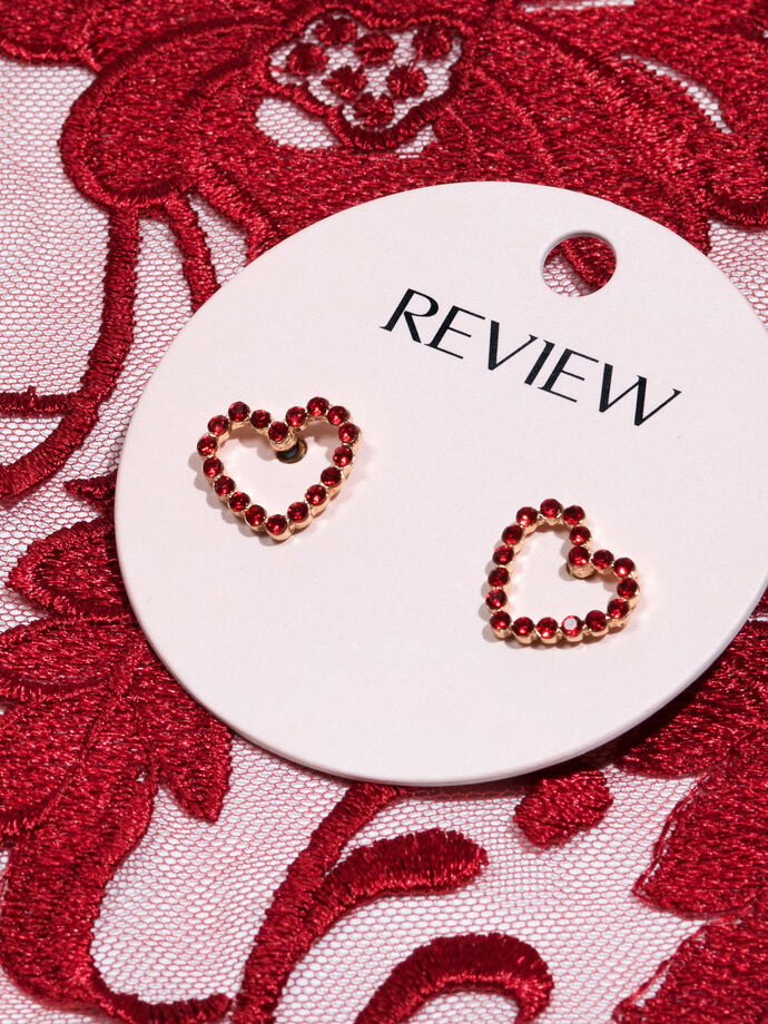 Glimmer Heart Stud Earrings