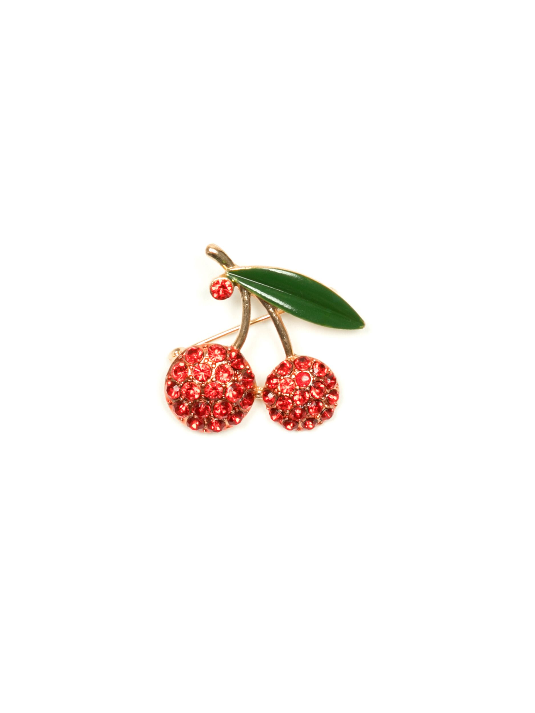 Berry Cherry Brooch
