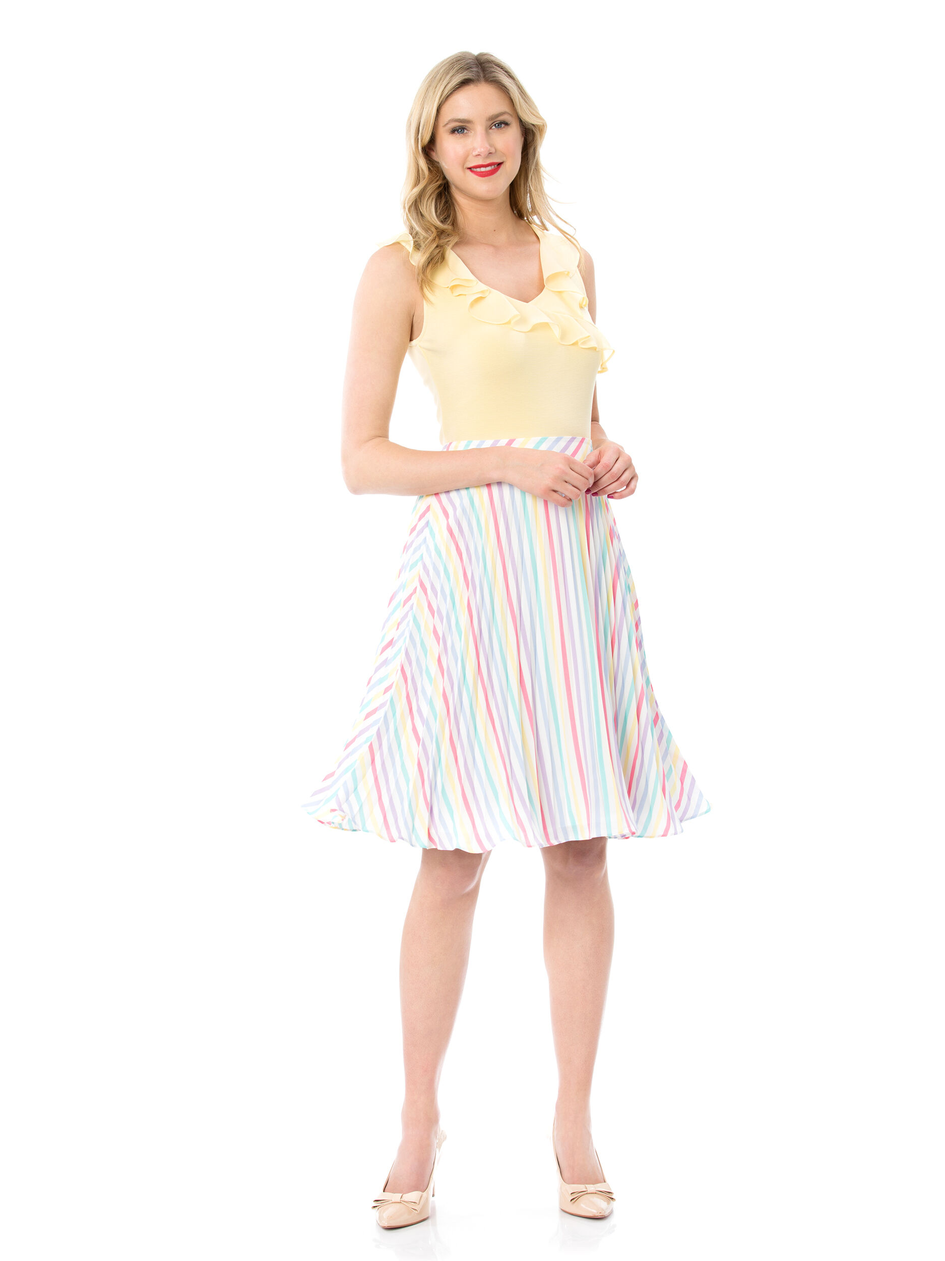 Bertie Stripe Skirt