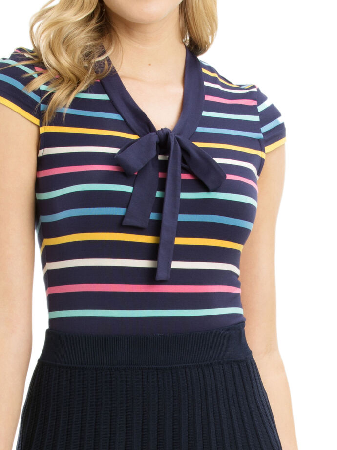 Lila Stripe Top