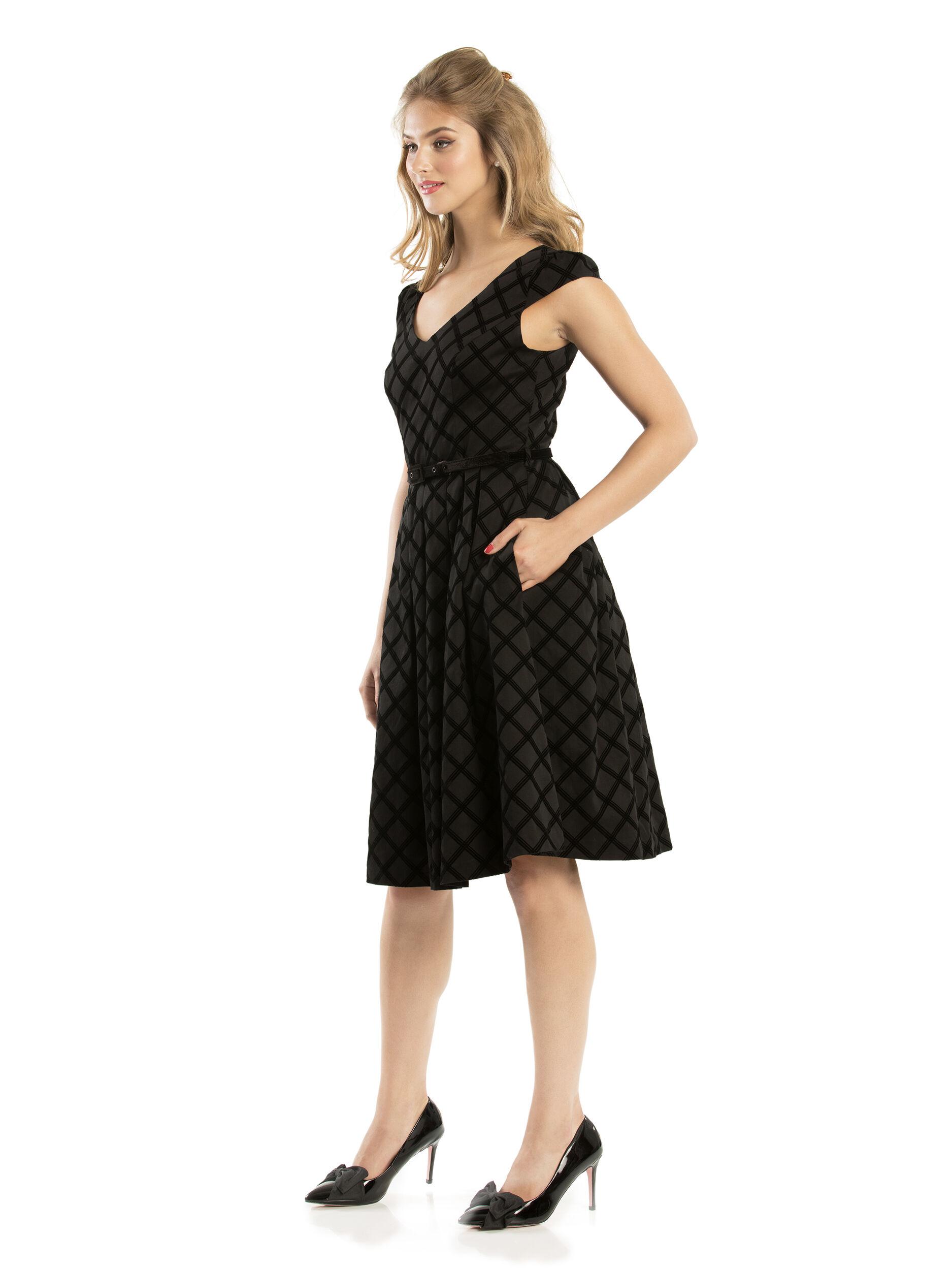Cassia Check Dress