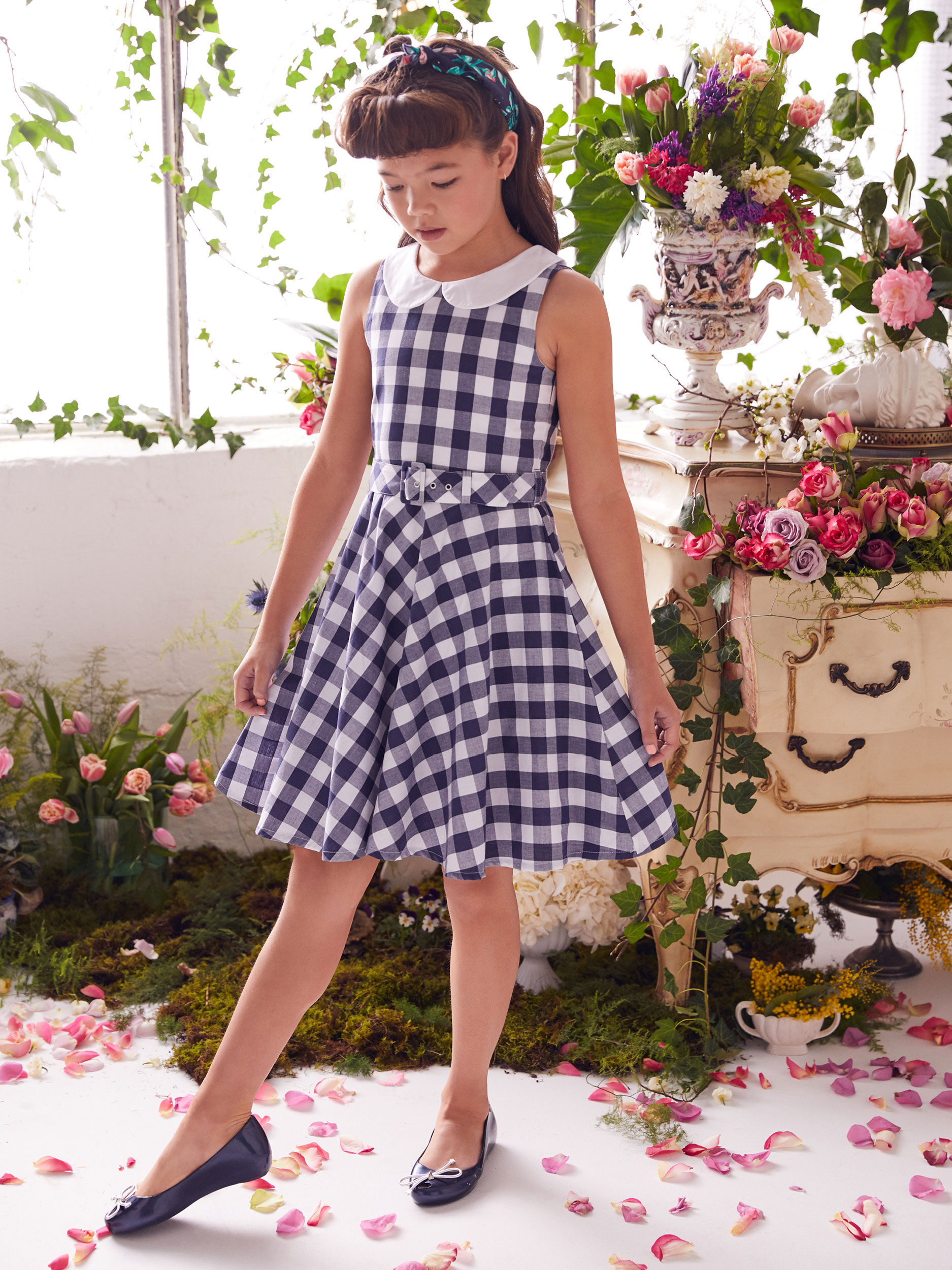 8-16 Girls Review Gingham Skater Dress