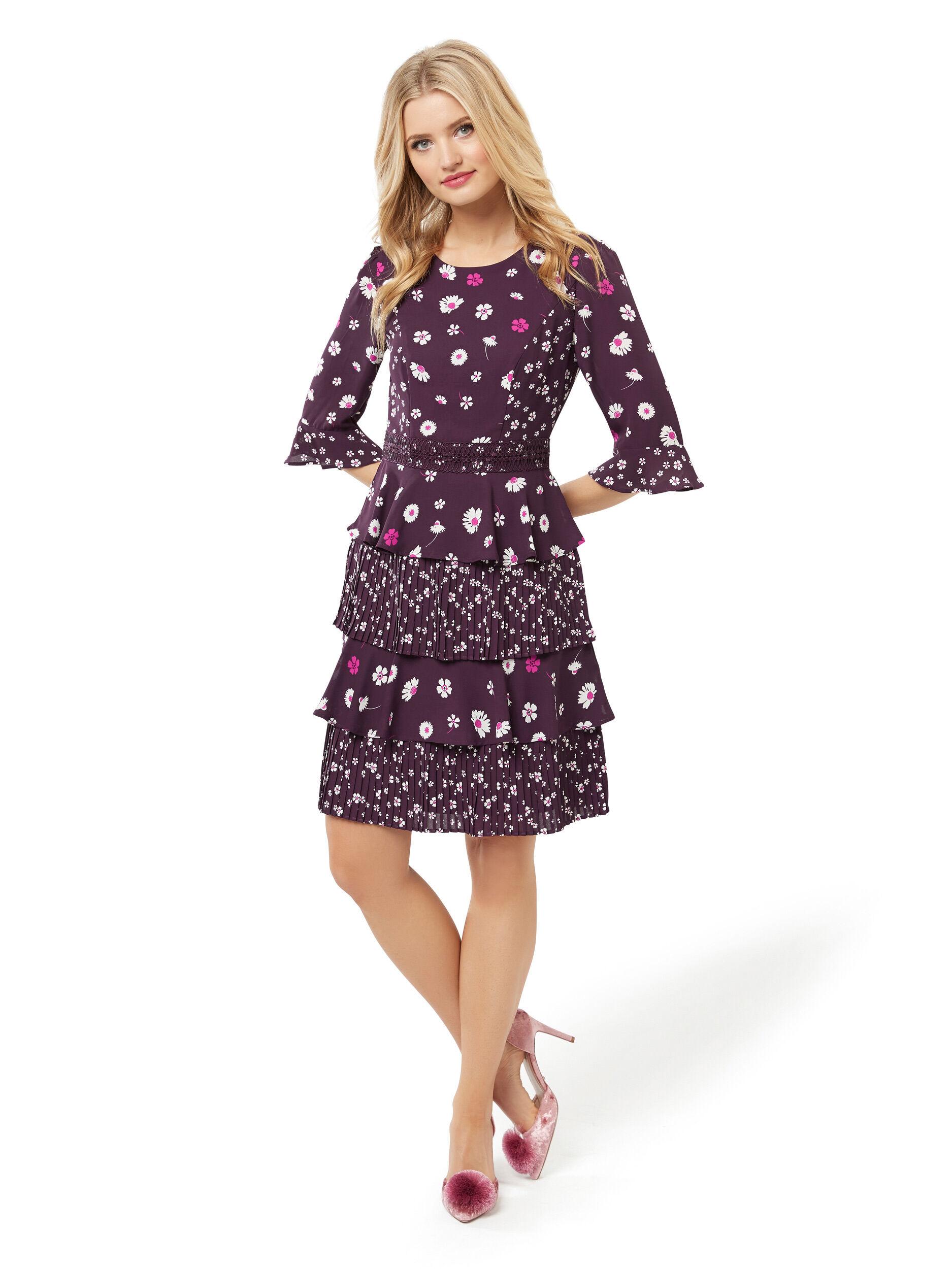 Miya Flower Frill Dress