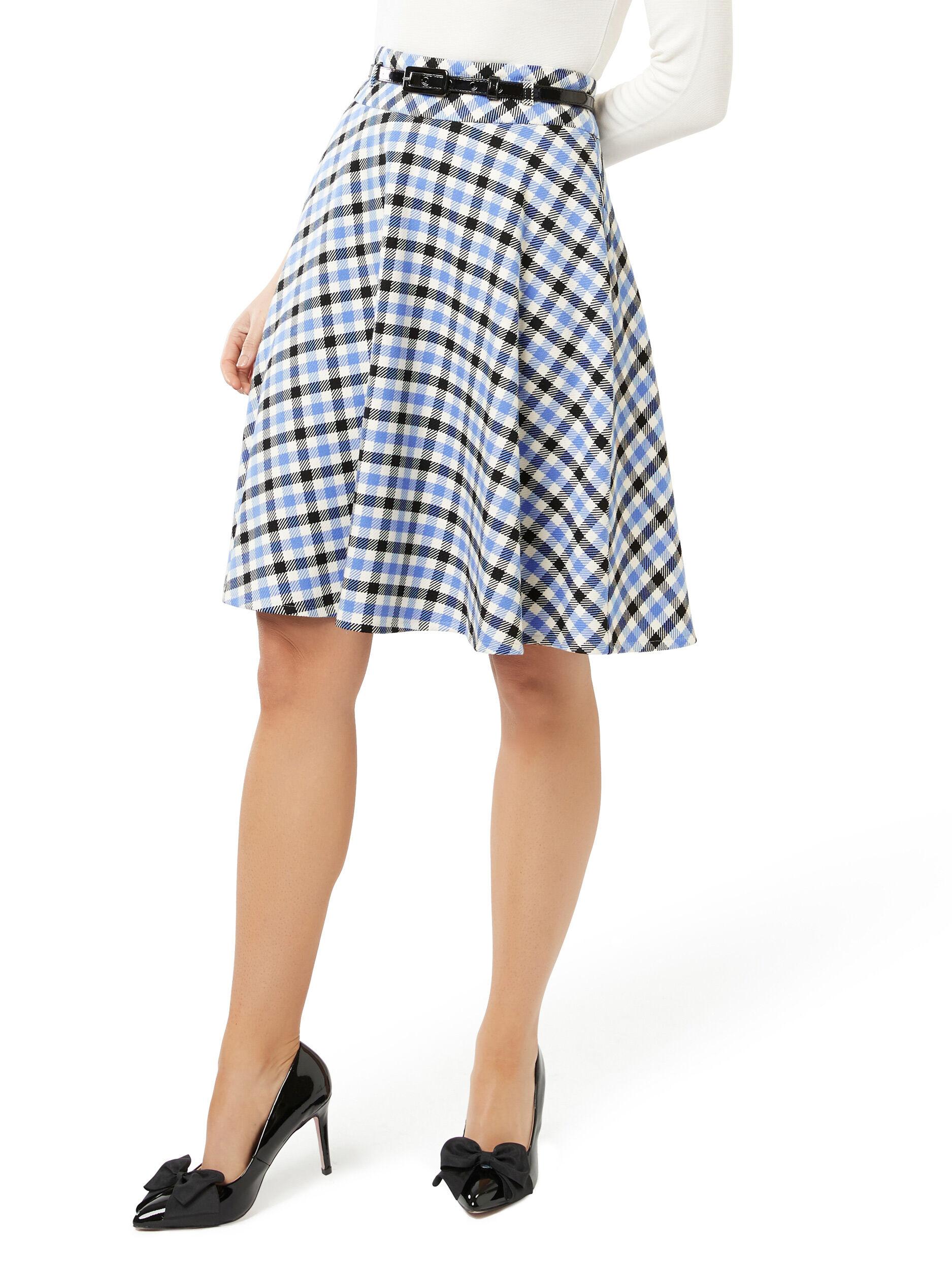 Wilma Check Skirt