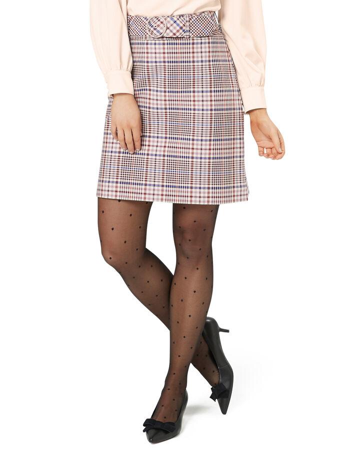 Sandra Check Skirt