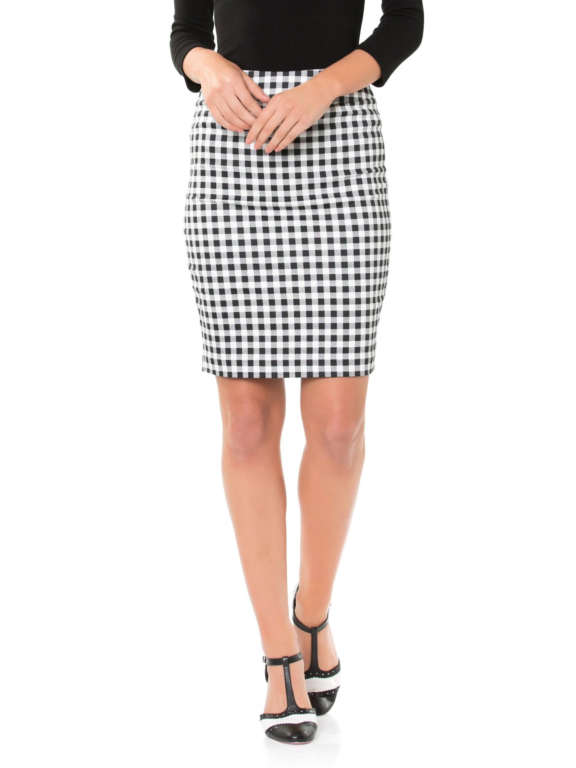 Angelica Check Skirt