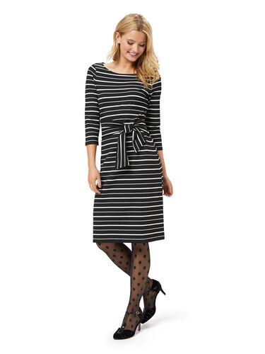 Rosalie Stripe Ponte Dress