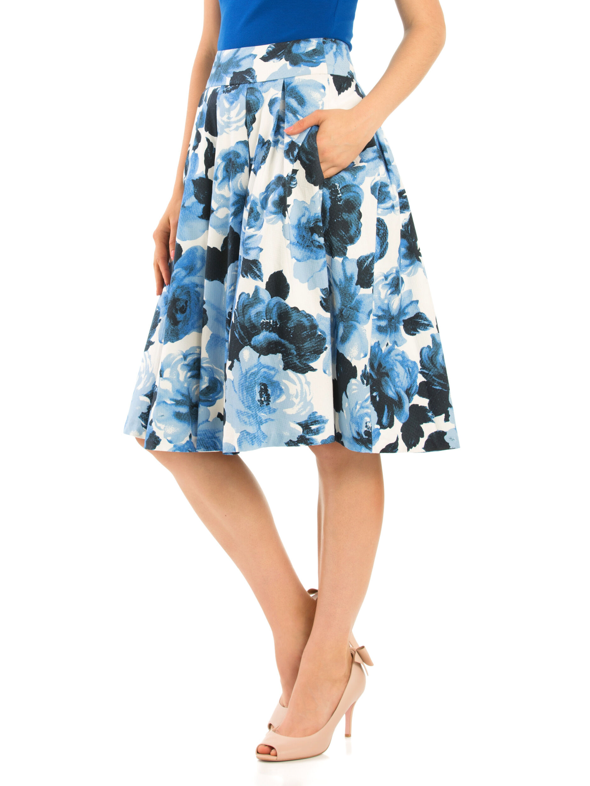 Miley Blue Rose Skirt