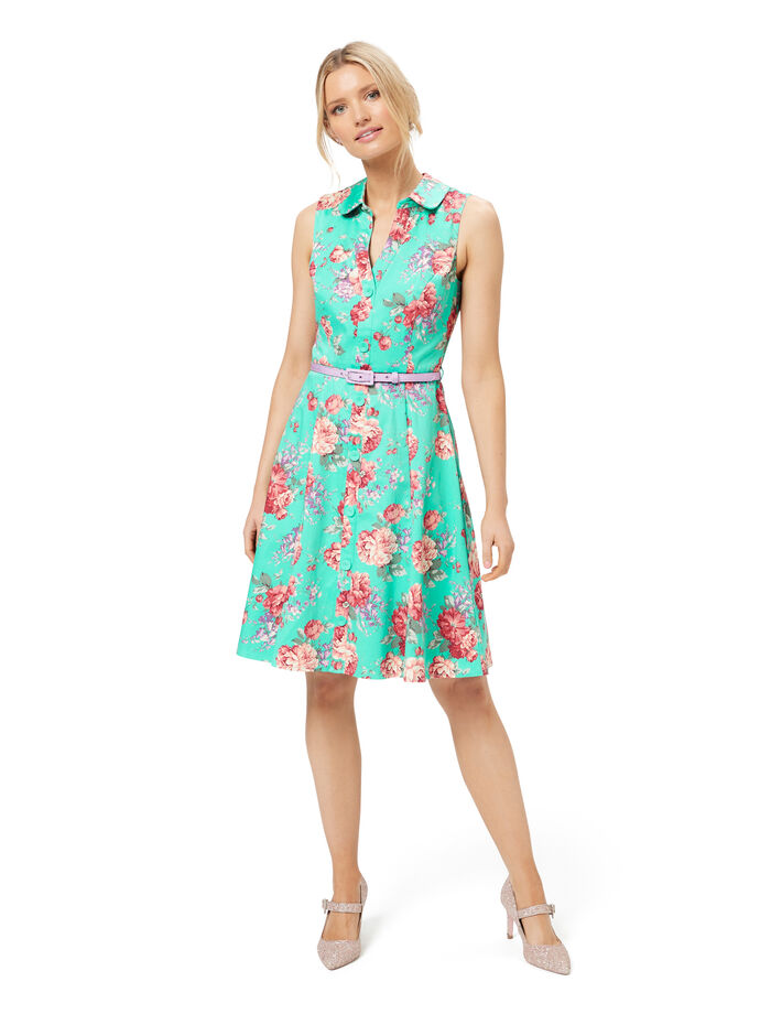 Pompeii Floral Shirtdress