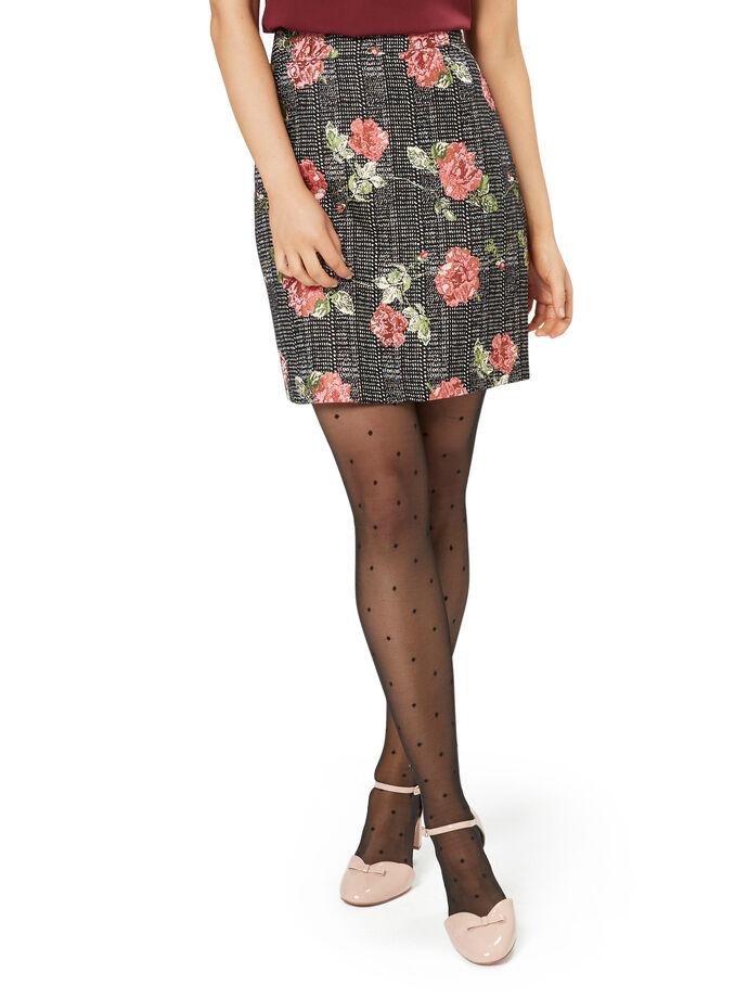 Rose Check Skirt