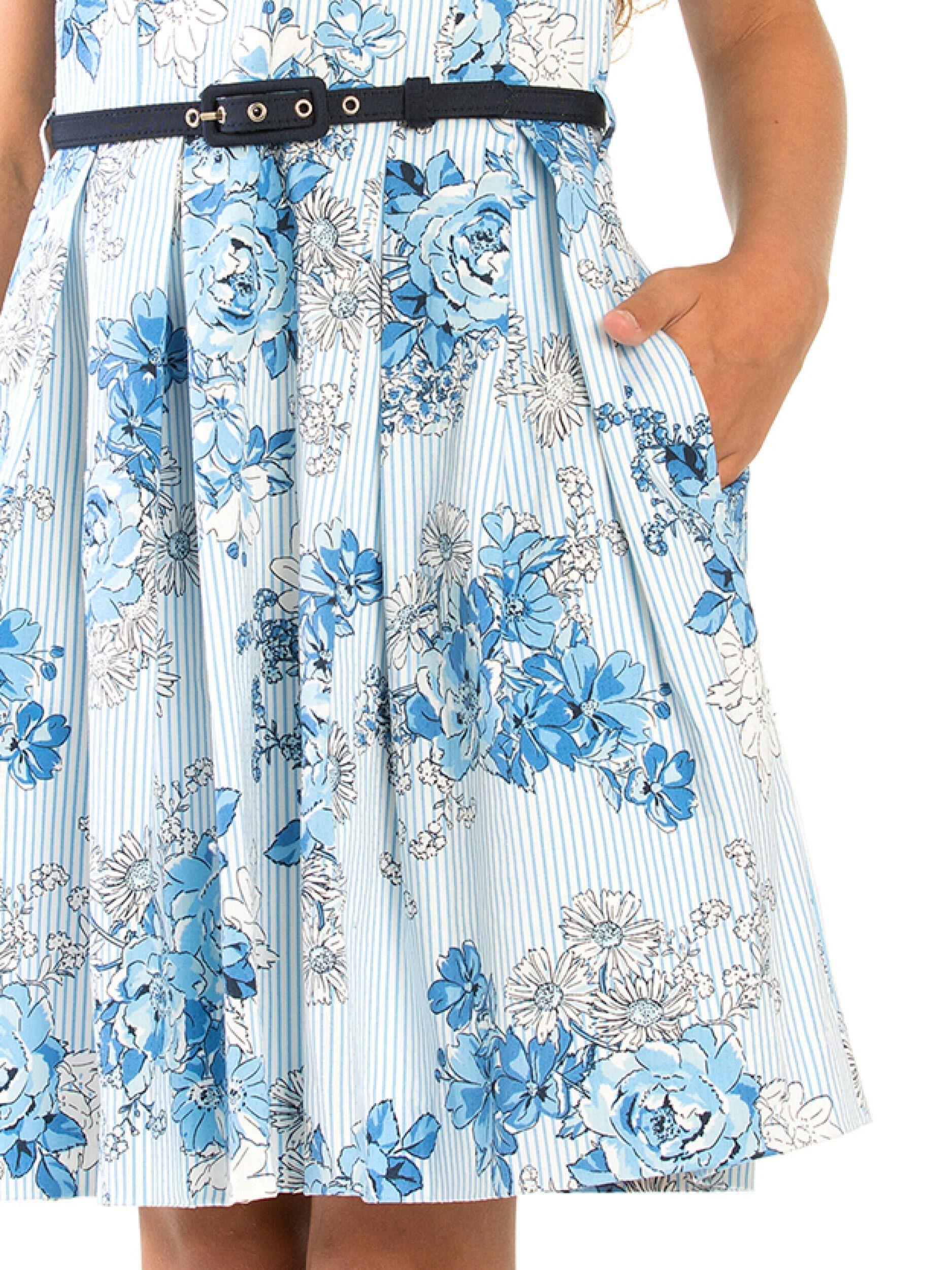 8-14 Girls Floral Dobby Prom Dress