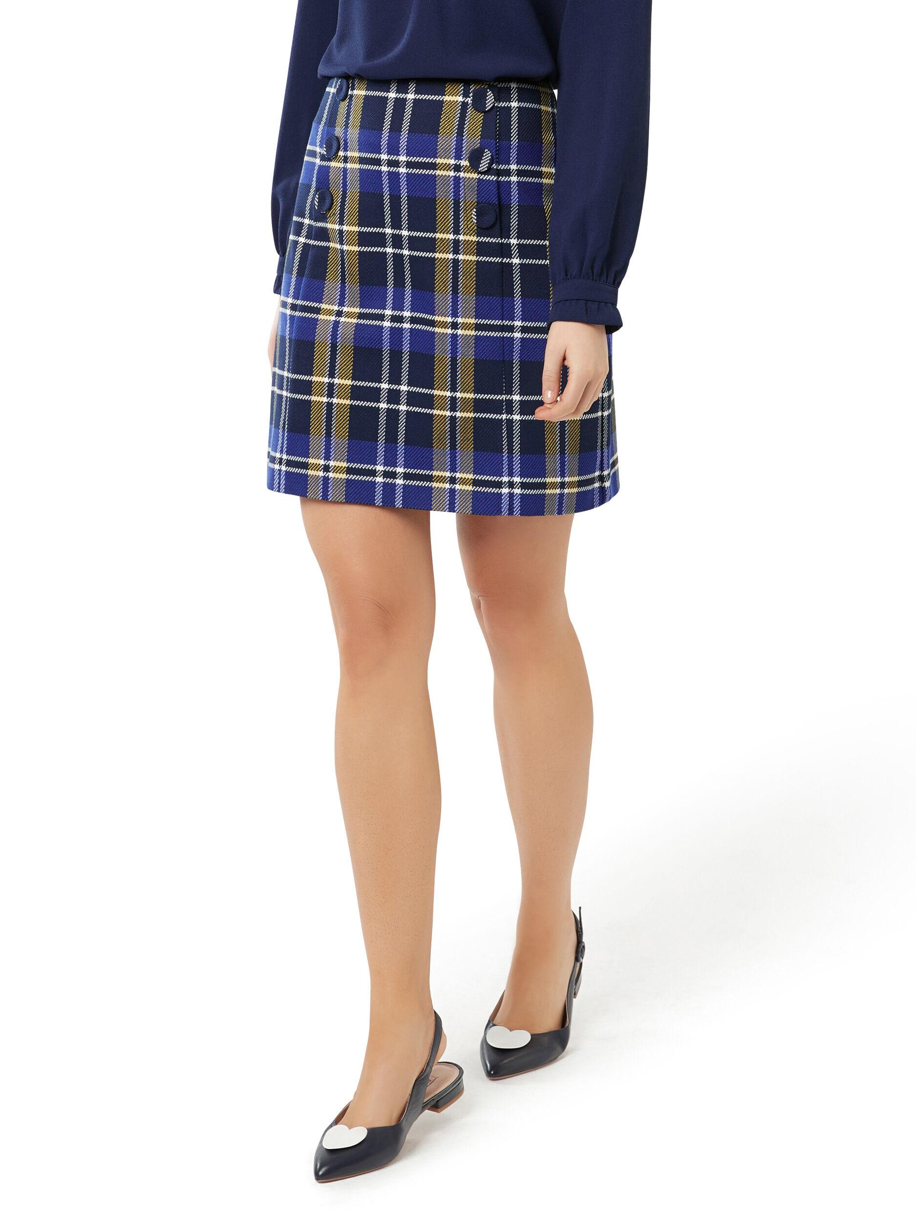 Davenport Check Skirt