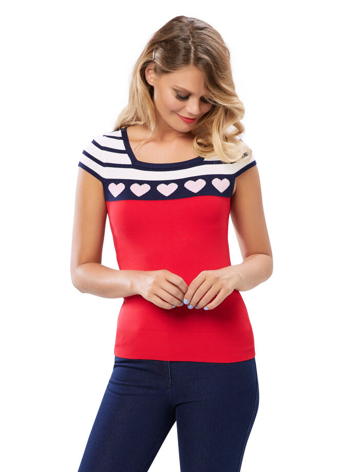 Tell It To My Heart Knit Top