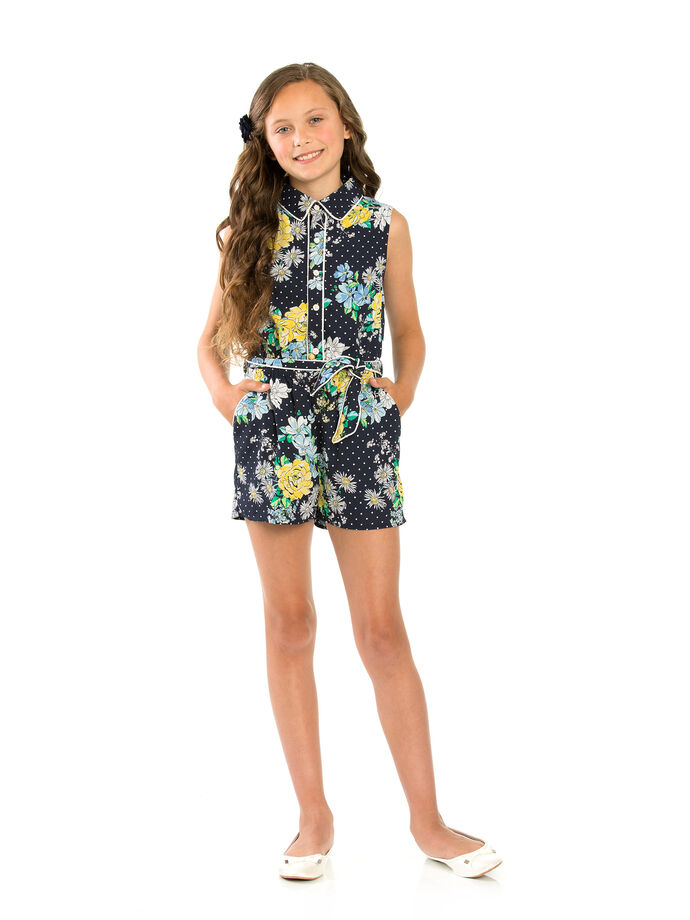 8-14 Girls Shirt Playsuit