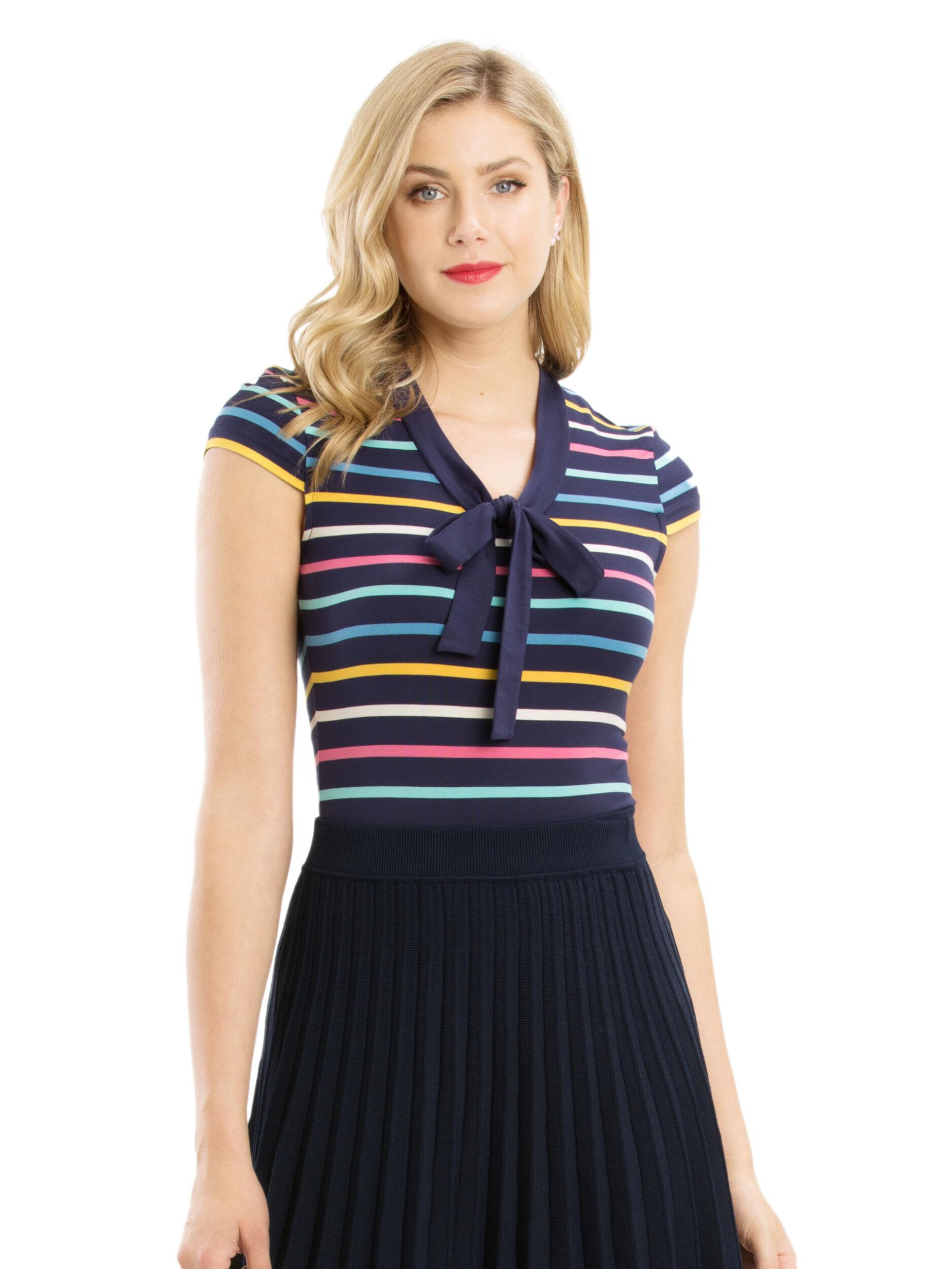 Lila Stripe Top
