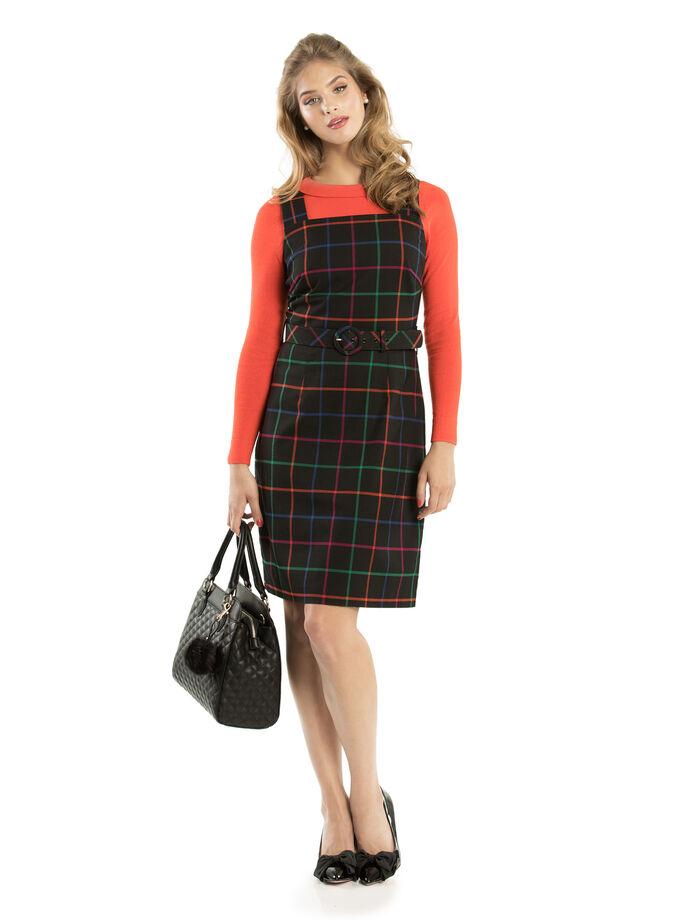 Caity Check Dress