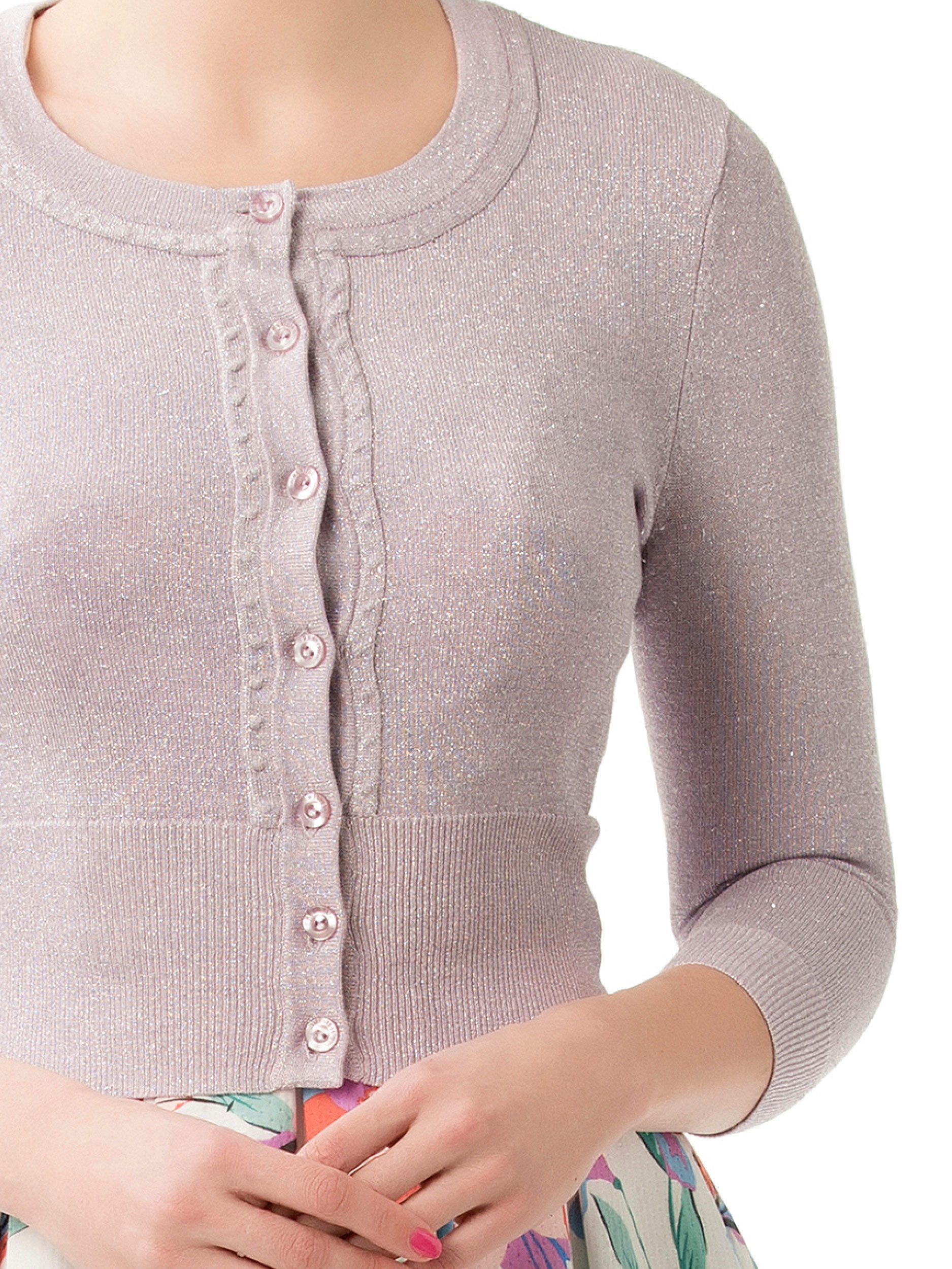 Chessie Shimmer 3/4 Sleeve Cardi