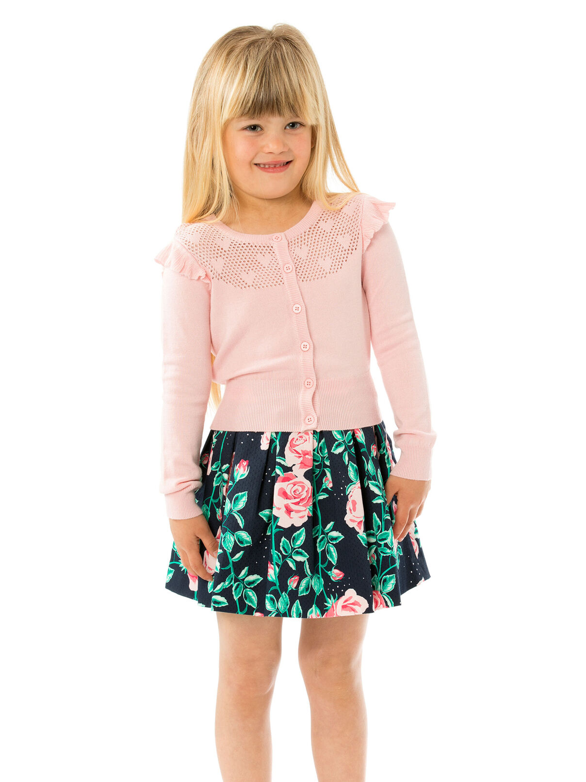 3-7 Girls Fully Fashioned Cardigan | Tuggl