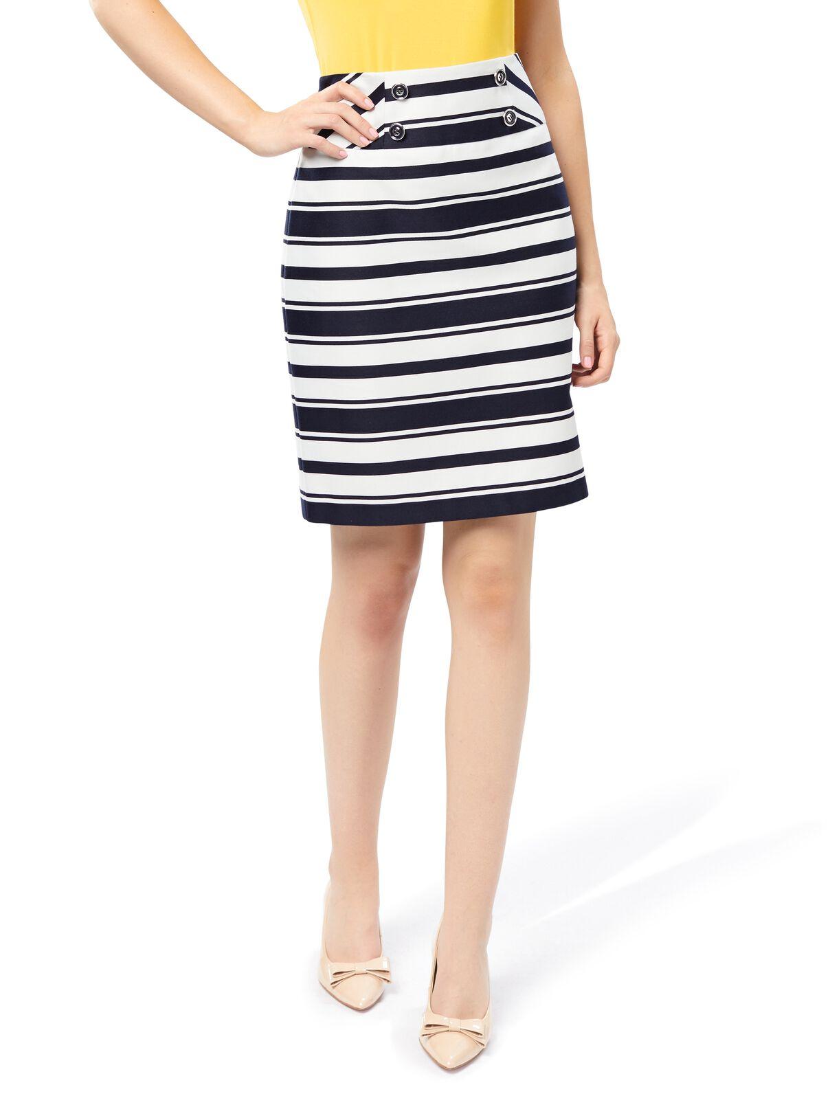 Marquise Stripe Skirt | Tuggl
