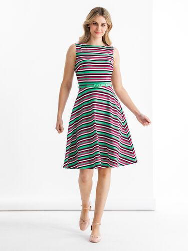 Zosia Stripe Ponte Dress