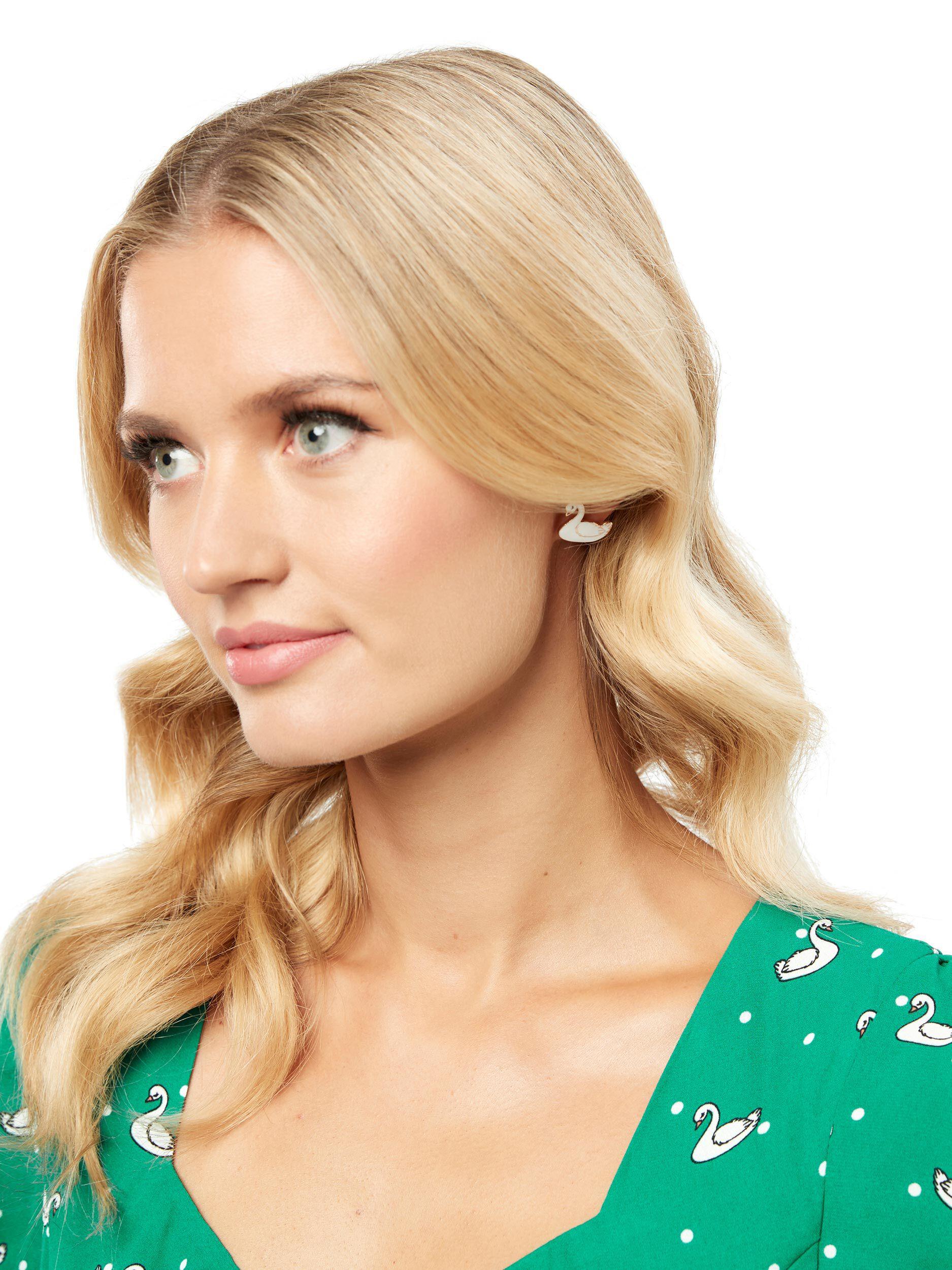 Stella Swan Earrings