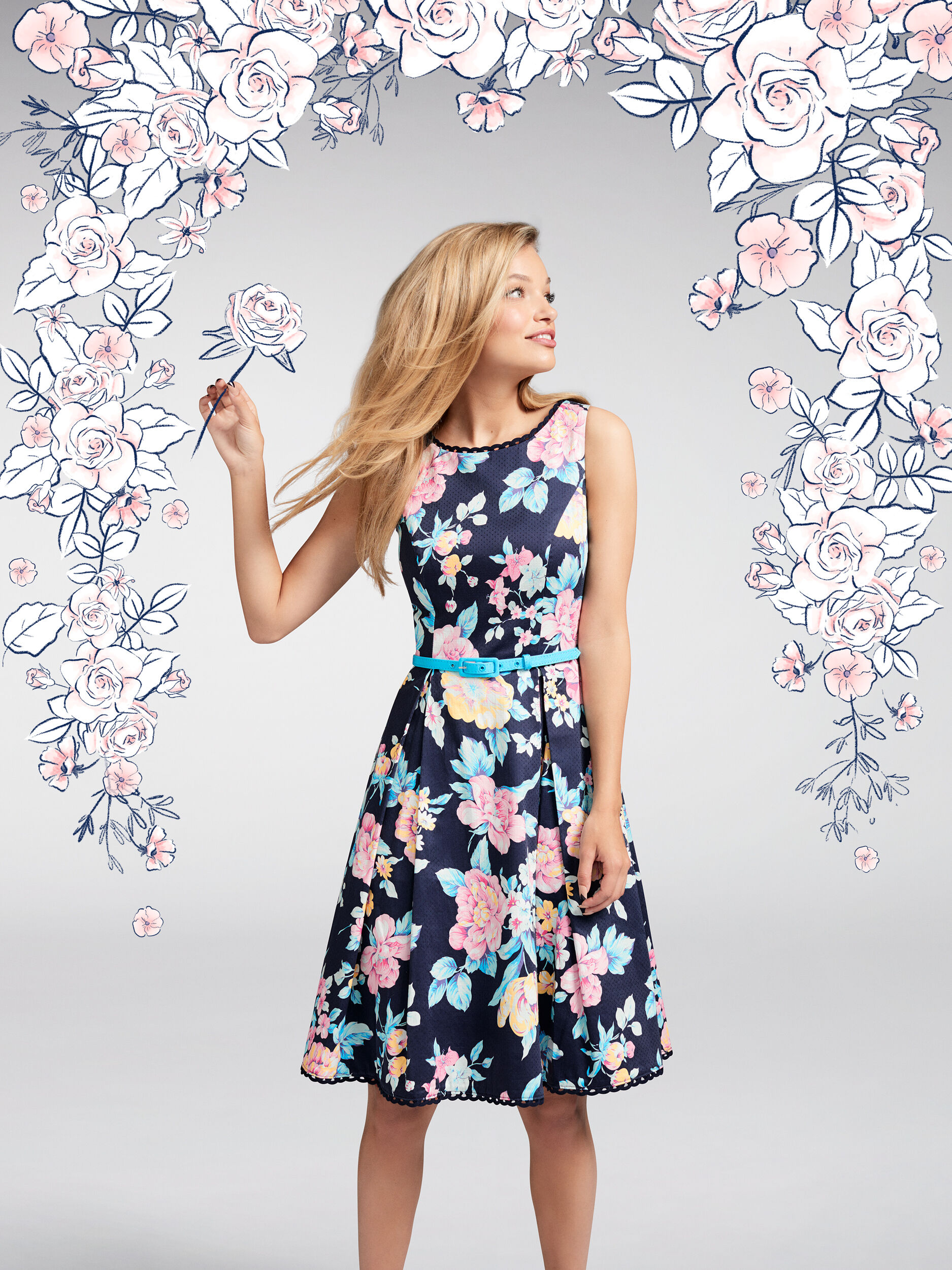 I Believe In Florals Dress
