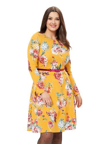 Caity Floral Ponte Dress
