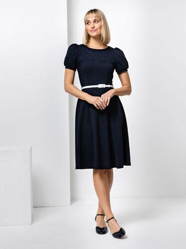 Poppy Broderie Ponte Dress