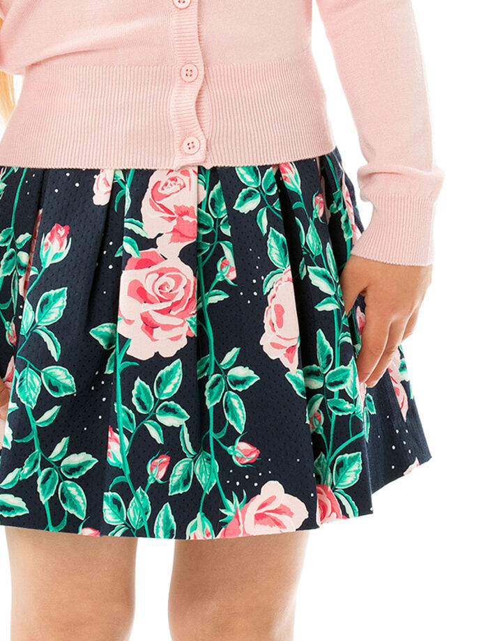 3-7 Floral Girls Prom Skirt