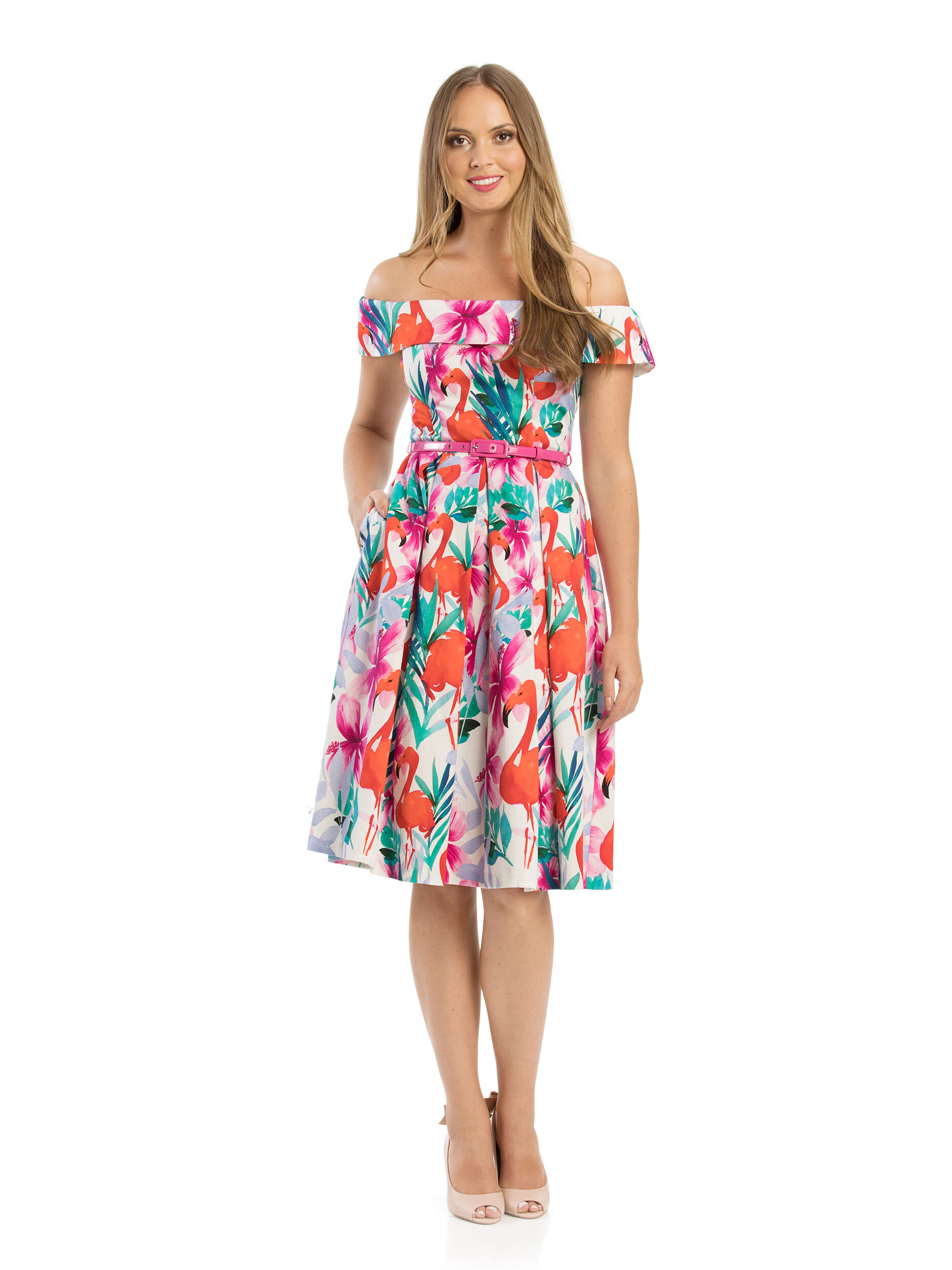 Prancing Flamingo Dress