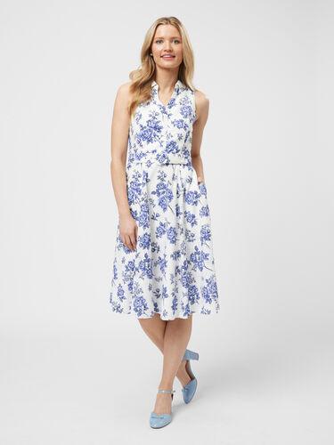 Blue Willow Shirt Dress