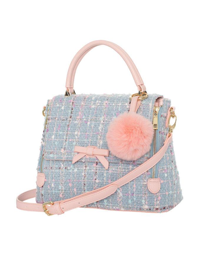 Tweed Top Handle Bag