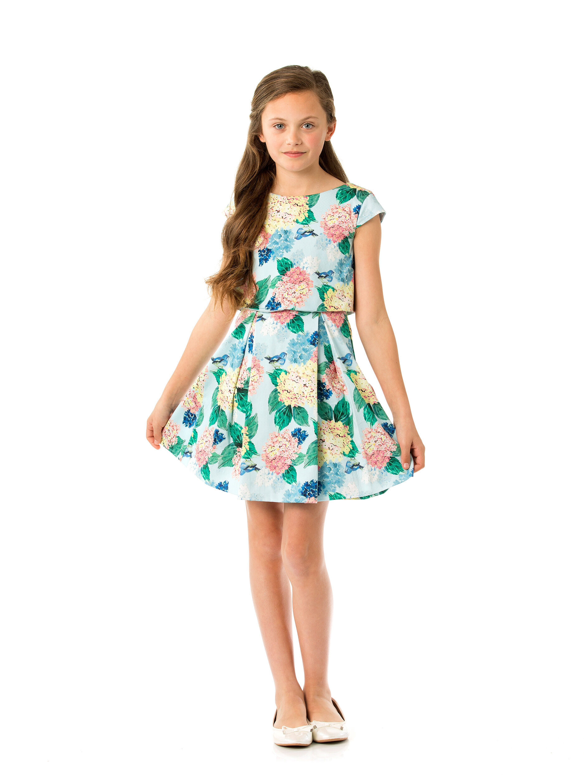 8-14 Girls Floral Prom Dress