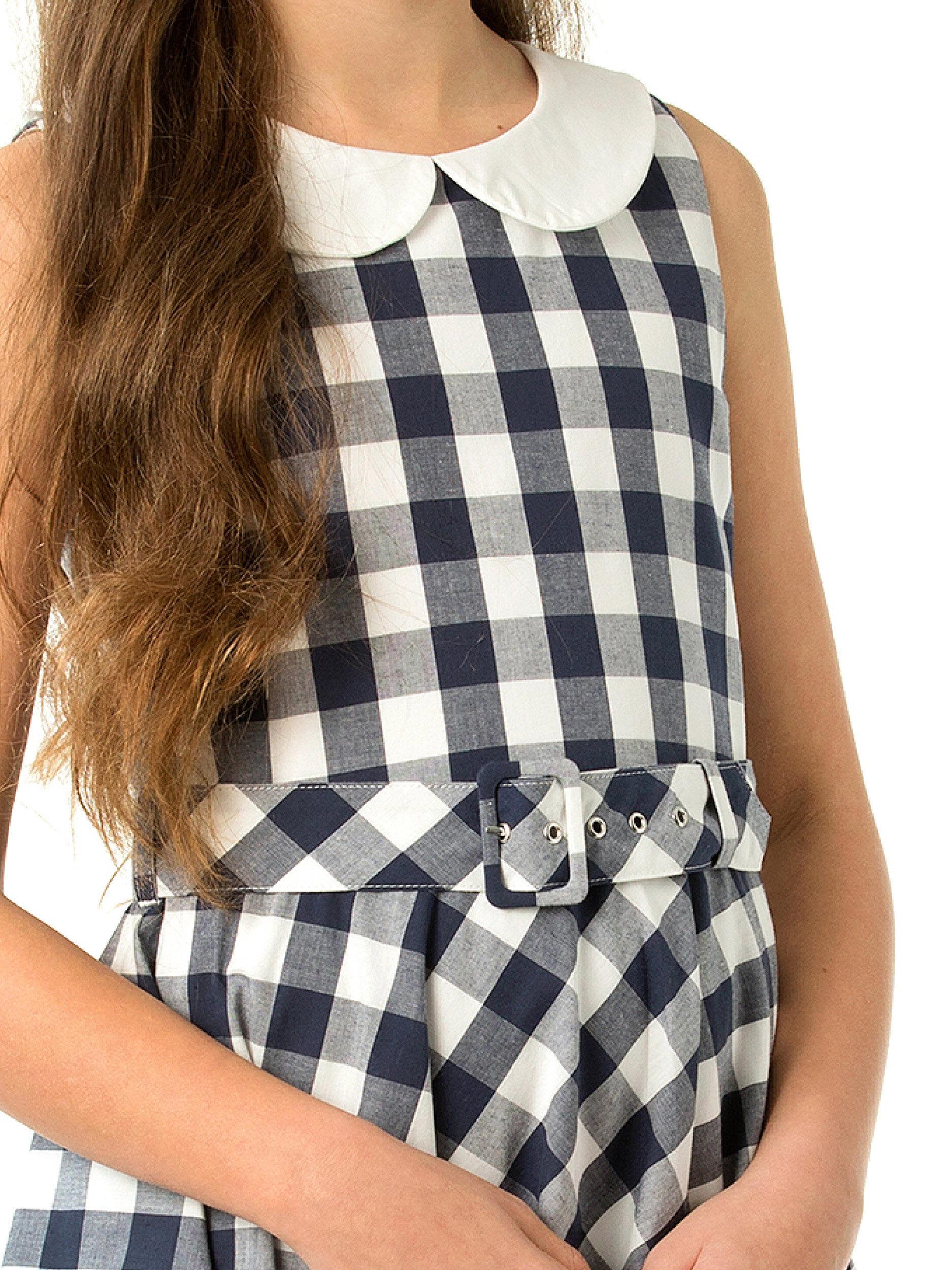 8-16 Girls Gingham Skater Dress
