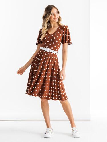 Toffee Spot Jersey Dress