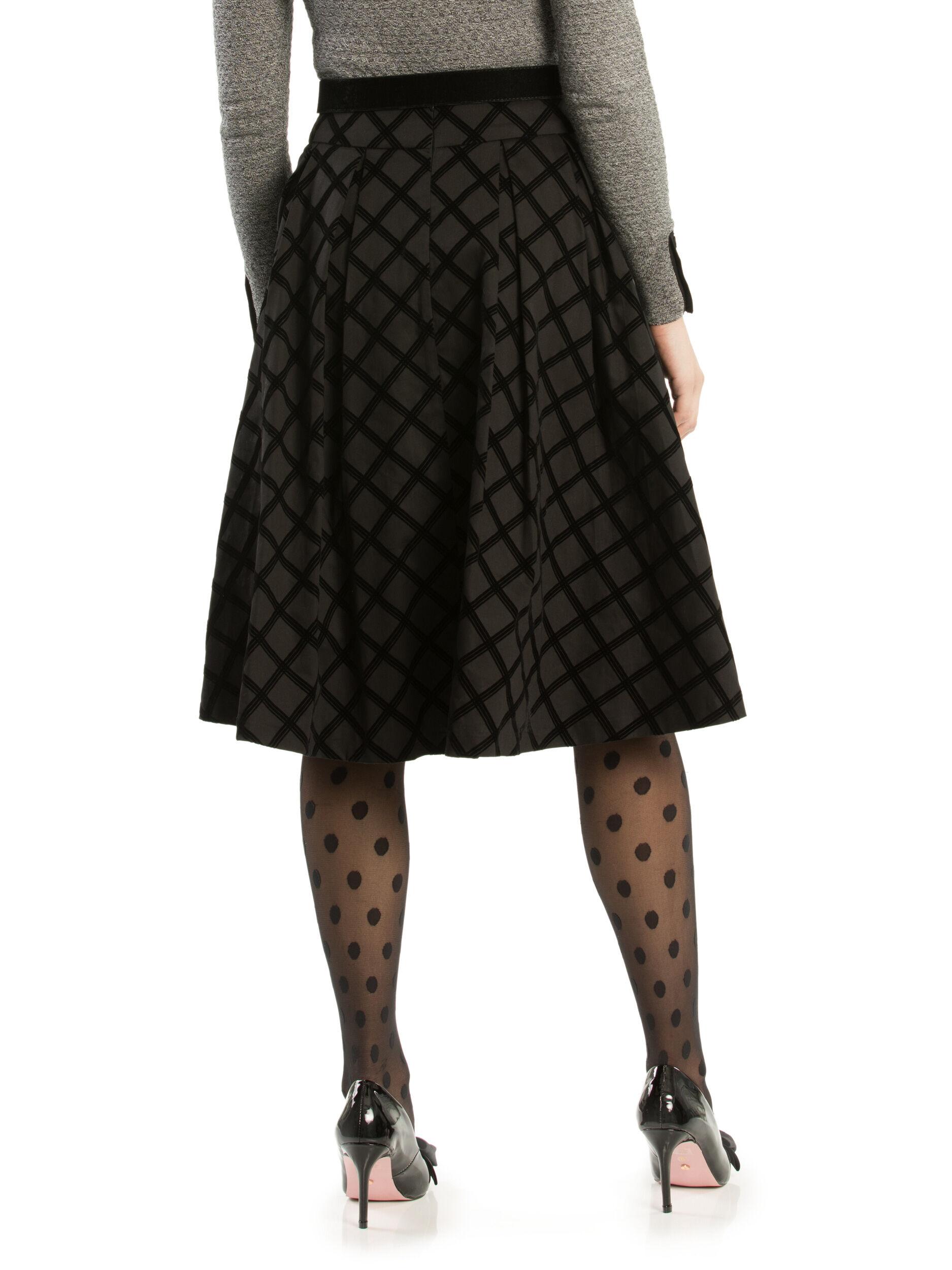 Cassia Check Skirt