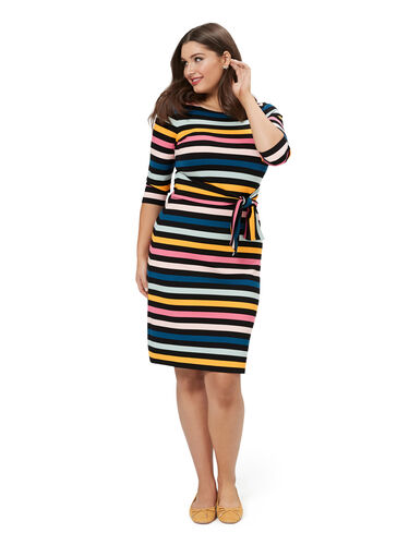 Cavello Stripe Ponte Dress