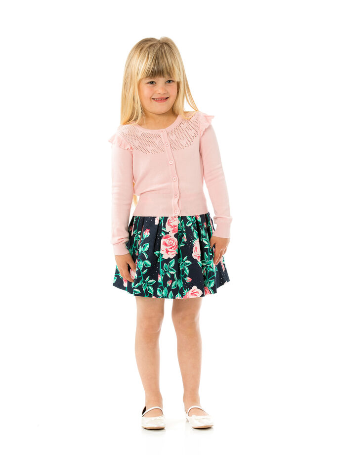 3-7 Girls Fully Fashioned Cardigan