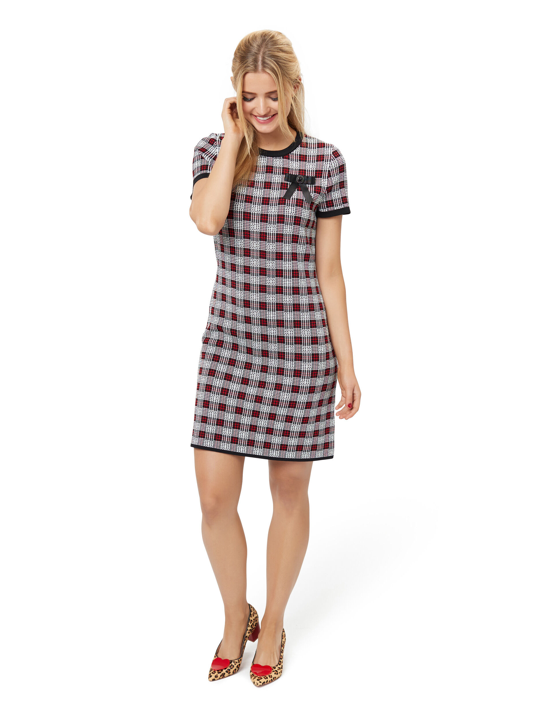 Clemmie Check Dress