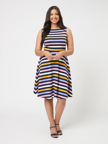Erika Stripe Ponte Dress