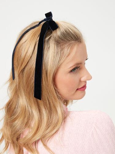 Velvet Bow 2pk Hair Ties