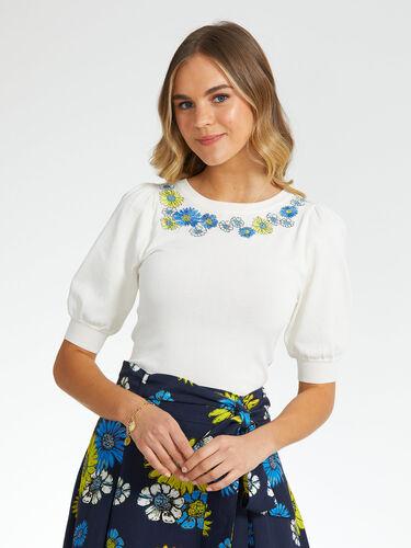 Artisan Bloom Knit Top