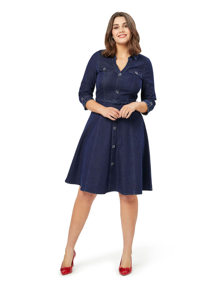 Presley Denim Shirt Dress