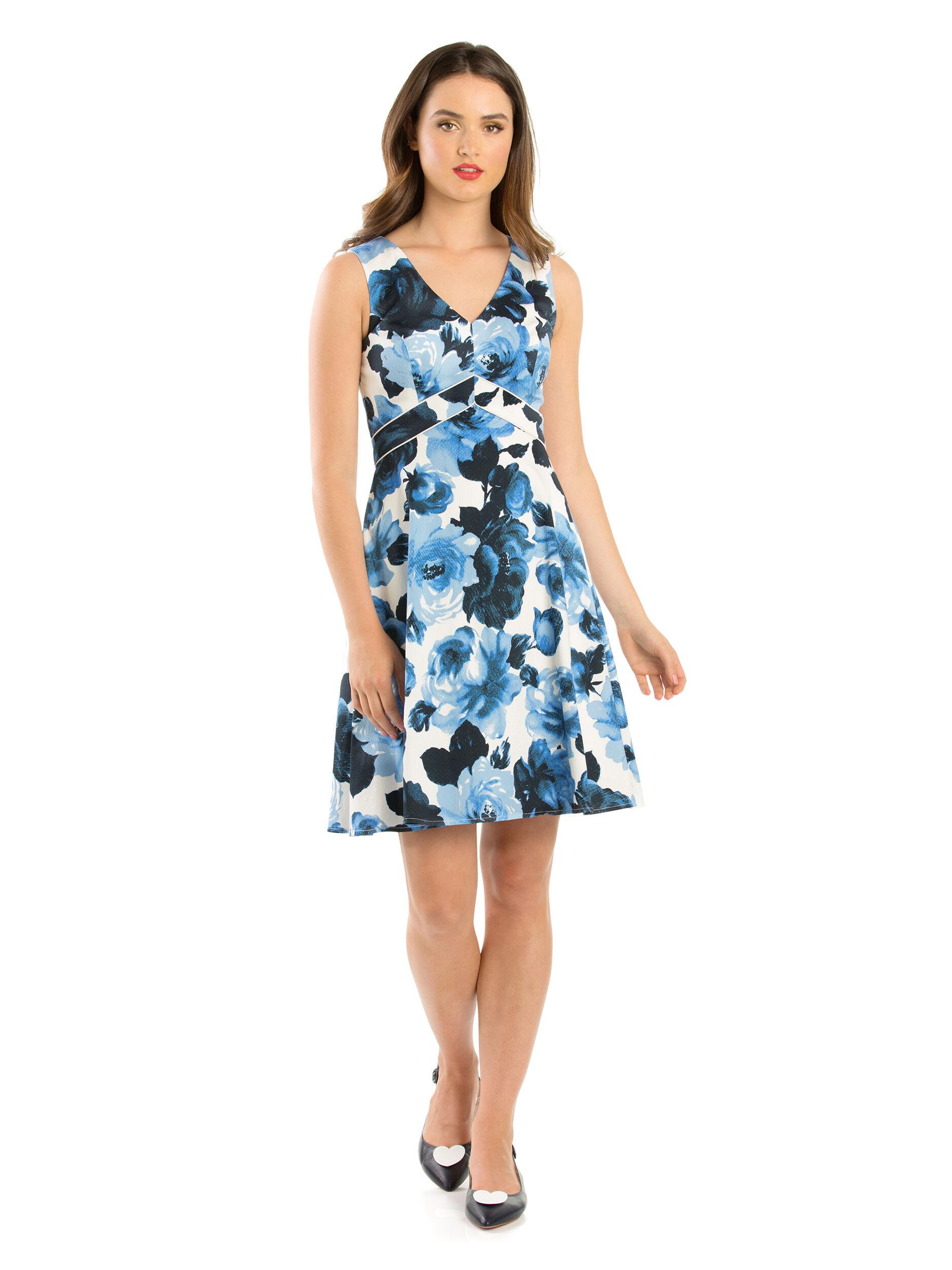 Miley Blue Rose Dress